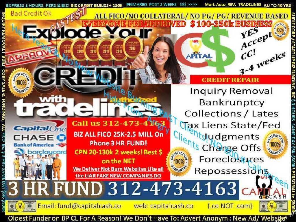 BUSINESS LINES OF CREDIT 50K-500K-1M, 10M, BLOC, Working Capital, Expansion, Inventory, Equipment, U