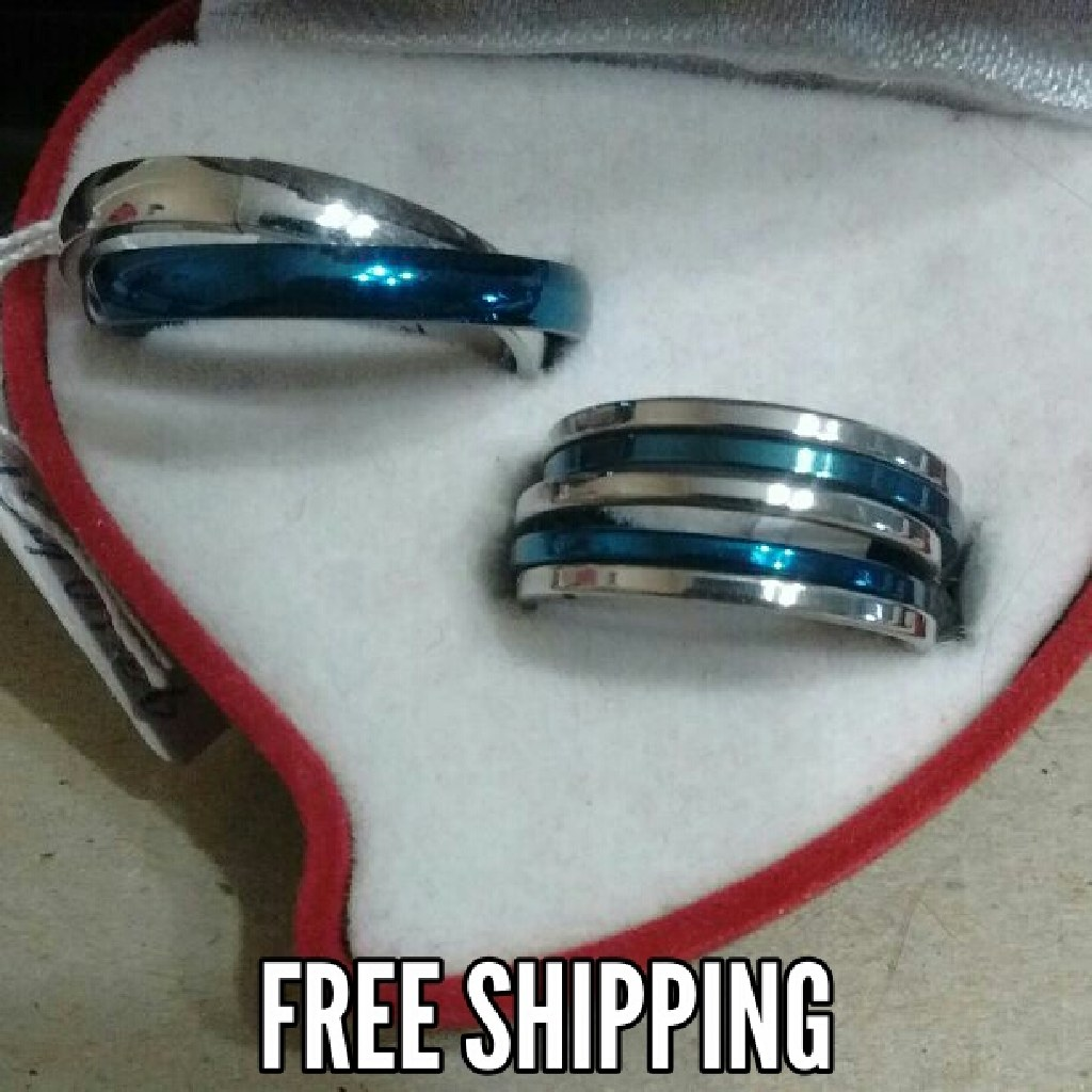 2pc Matching Lovers Couples Ring Set Free Shipping