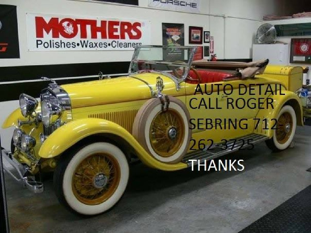 """""""NOTHING LIKE THAT CLEAN CAR SMILE CALL ROGER SEBRINGS AUTO DETAIL 712-262-3725 OR EMAIL rogers@smun"""