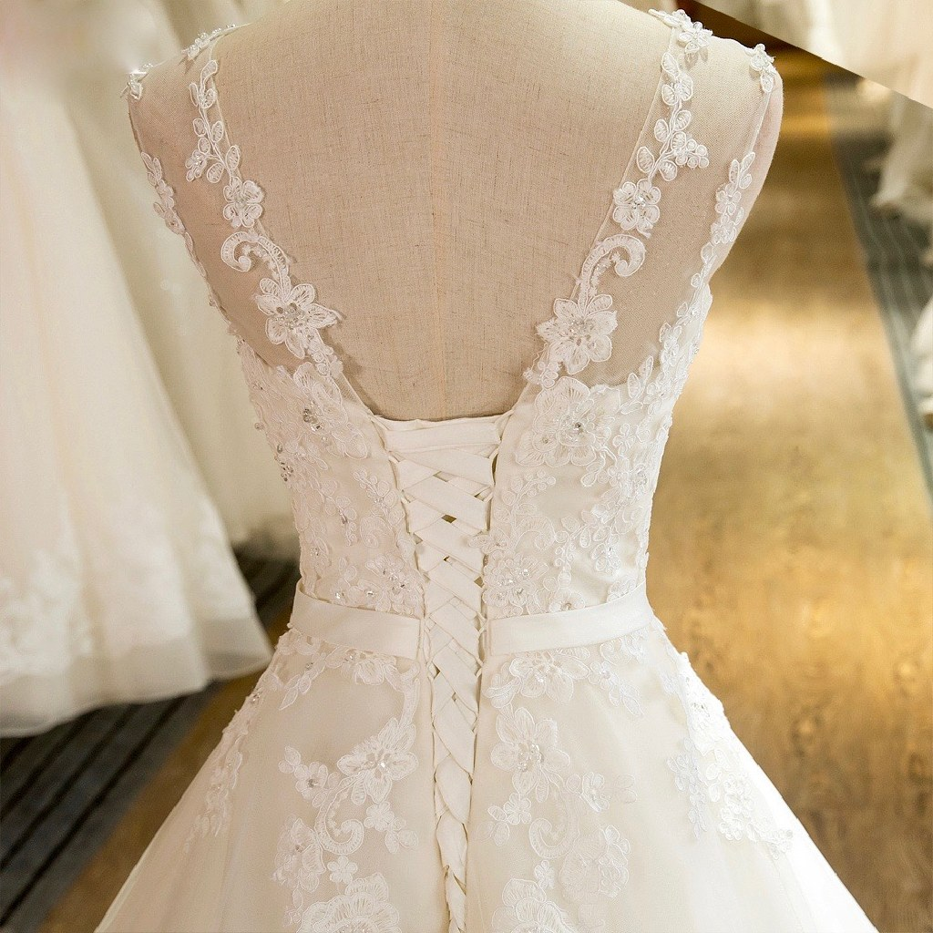 Vanessa's Lace A Line Wedding Dress Sizes 12 Ivory