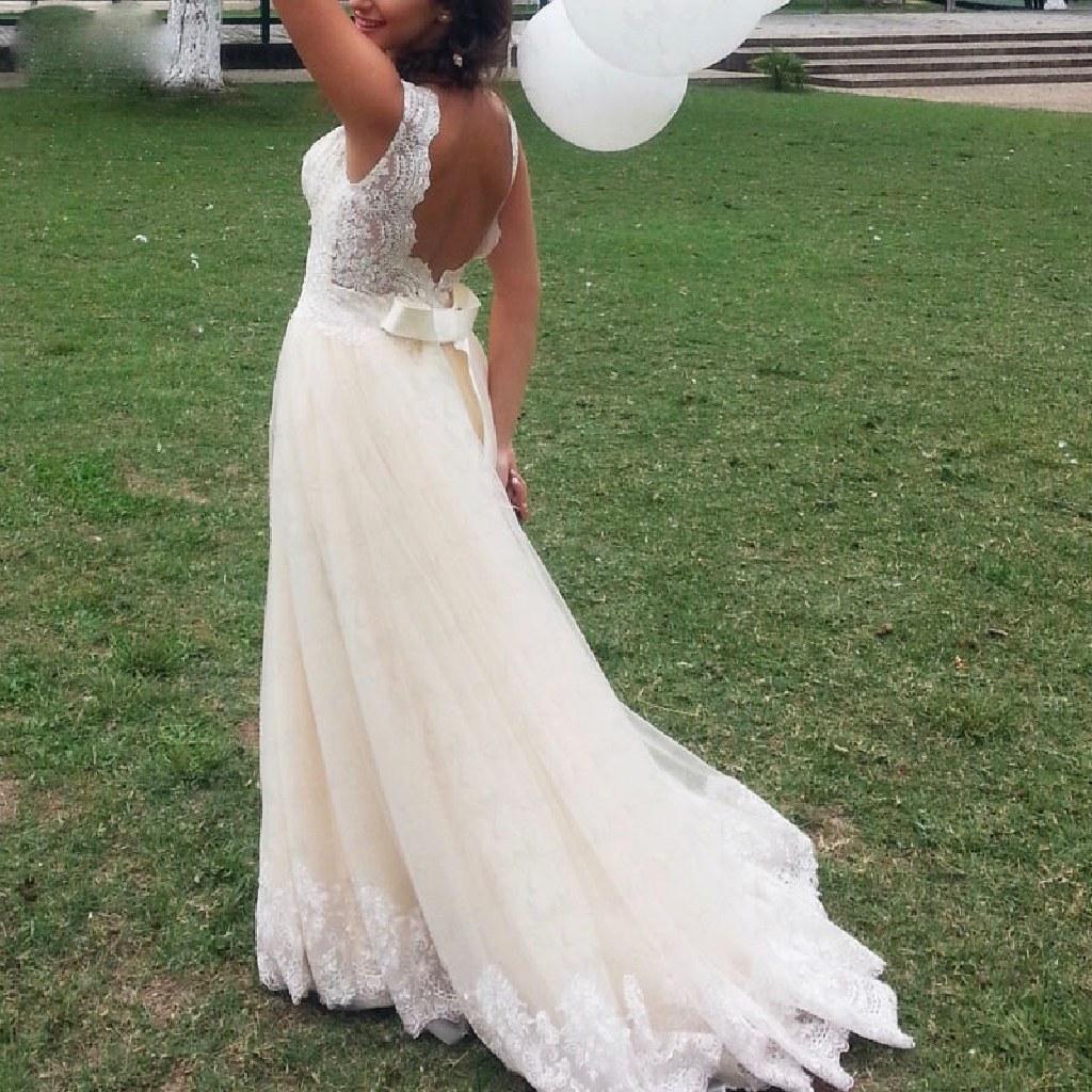 Natalie's A Line Lace Wedding Dress