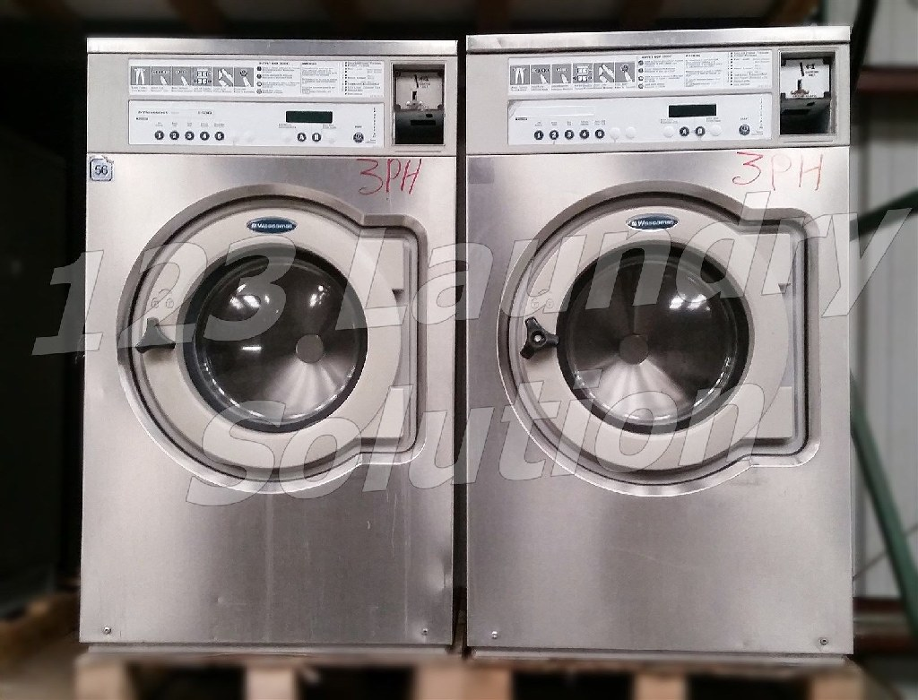 Coin Laundry Wascomat Front Load Washer Coin-Op 30LB 3PH 220V E630 Stainless Steel Used