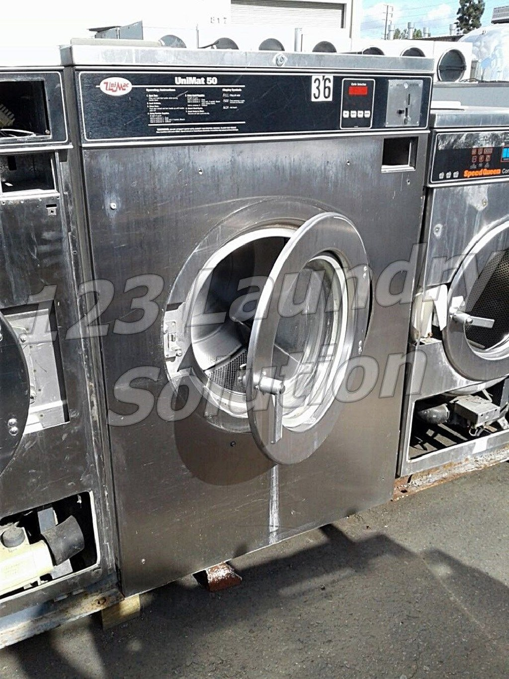 Coin Laundry Unimac Front Load Washer 50LB 3PH UC50PC2 Stainless Steel AS-IS