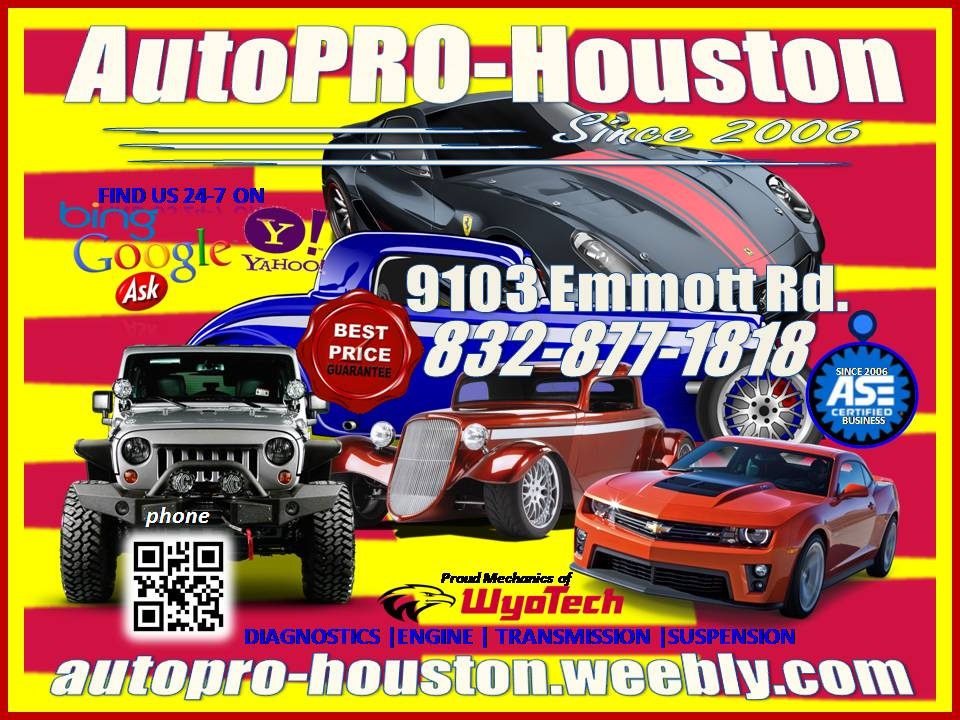 Car Care and Repair @ AutoPRO-Houston | CALL - -