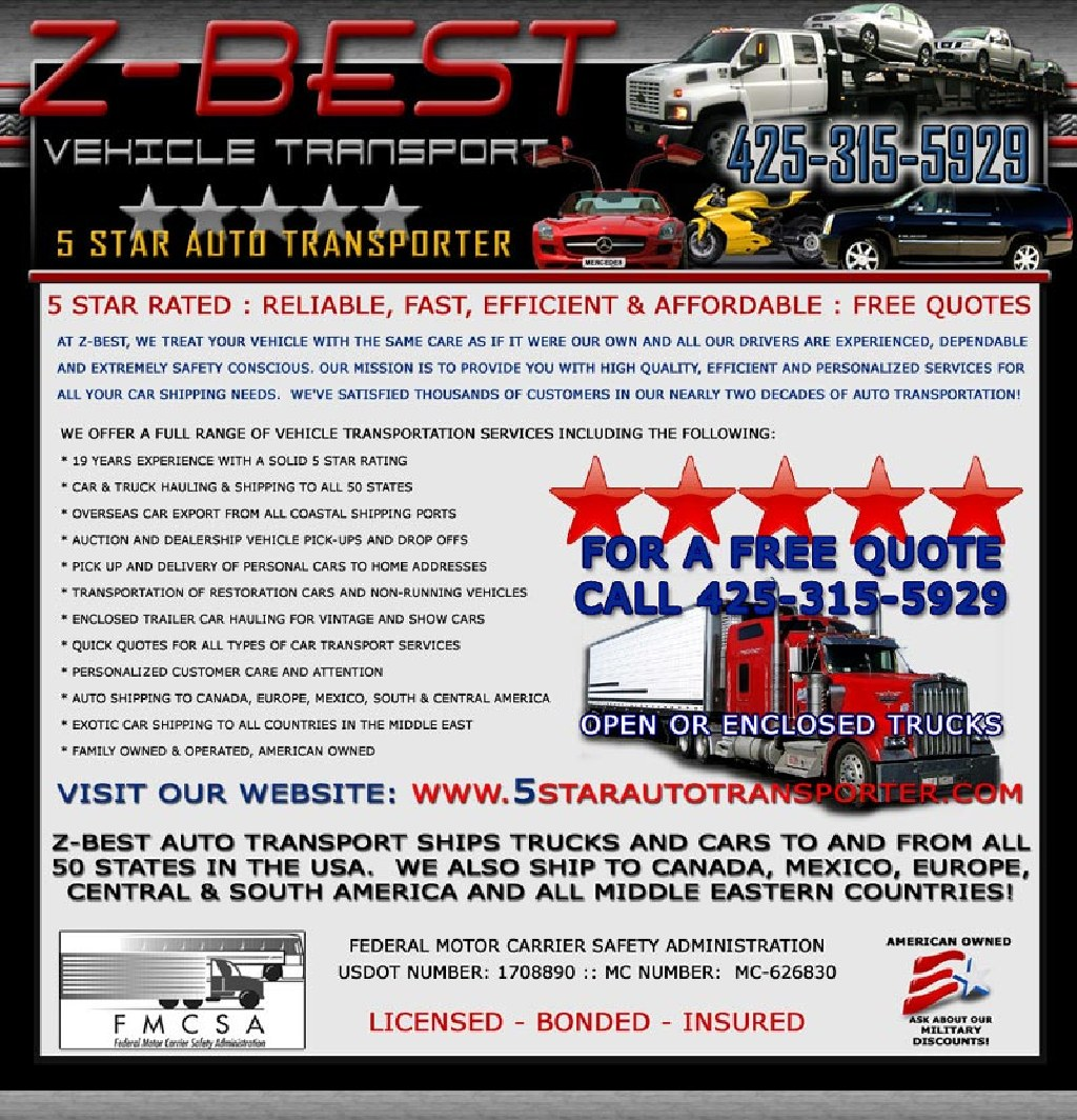 Car Moving Rates - ZBESTAutoTransport Auto Shipping Quote Estimado Gratis