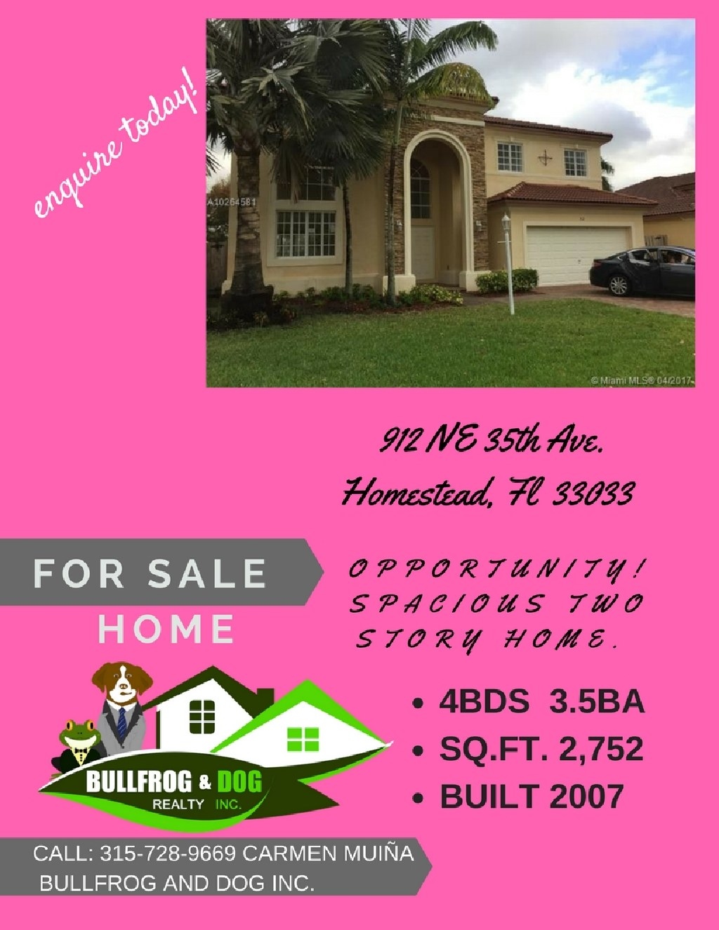 SINGLE FAMILY HOME 4/2. OPEN HOUSE