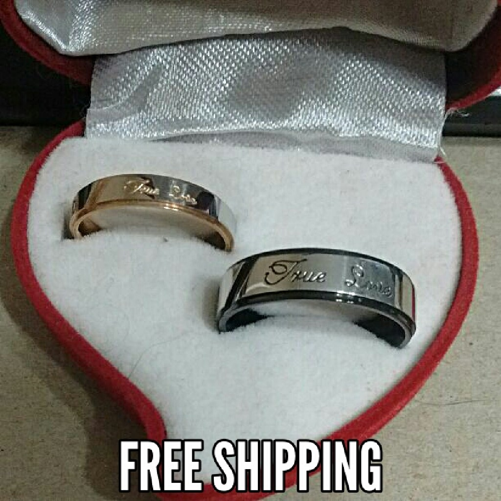 2pc True Love Matching Couples Ring Set Free Shipping