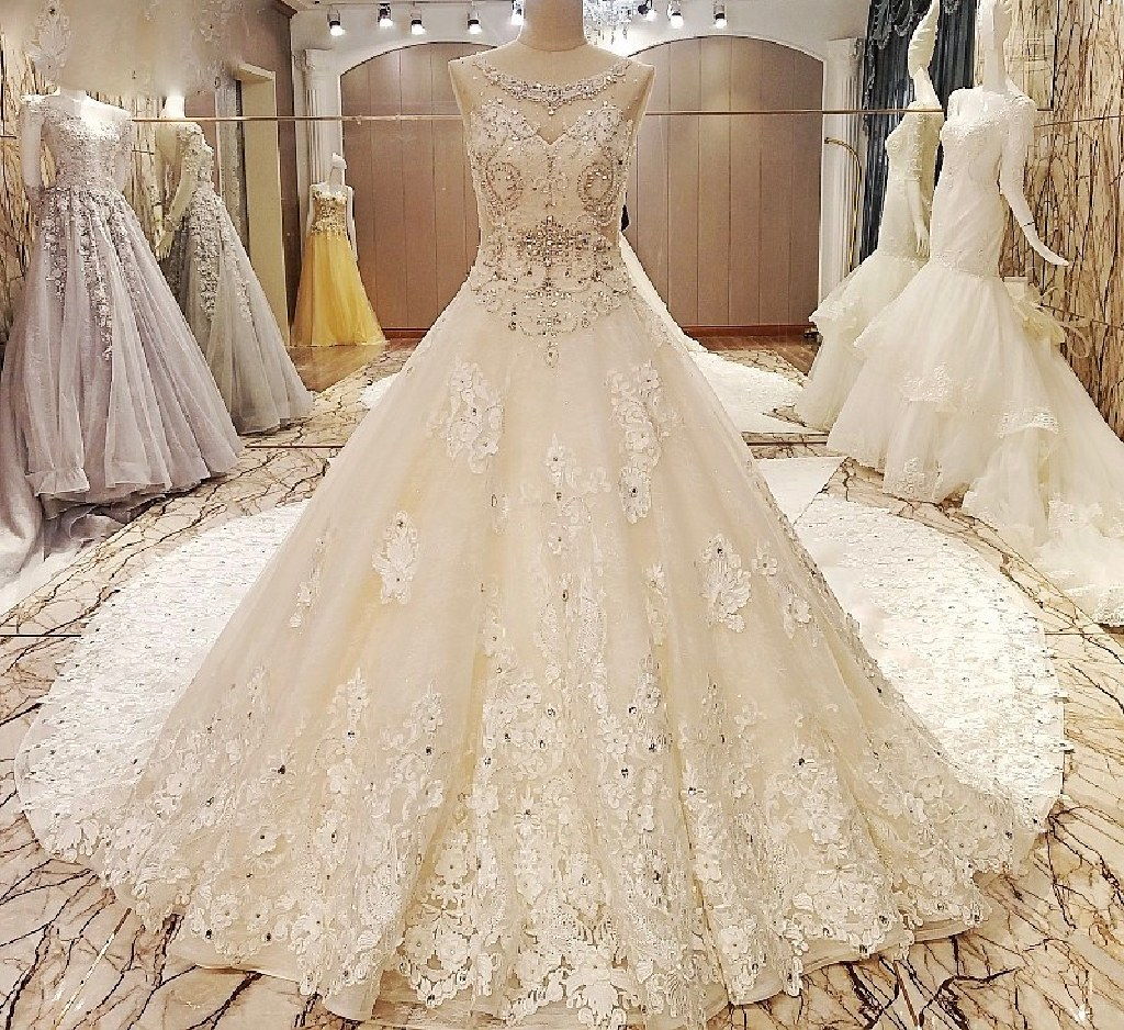 Penny's Lace Princess A Line Wedding Gown