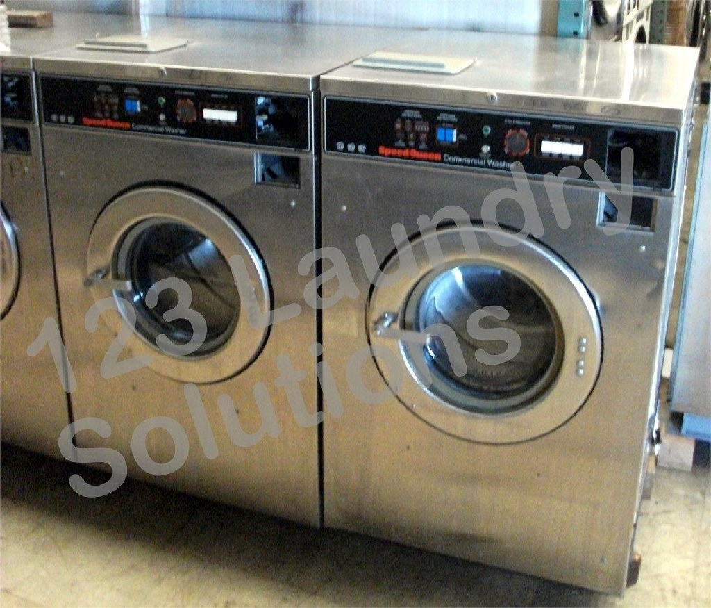 Coin Laundry Speed Queen Front Load Washer 208-240v Stainless Steel SC27MD2AU20001 Used