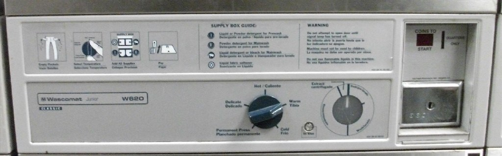 Coin Laundry Wascomat Front Load Washer W620 Used