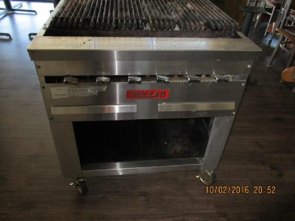 "Vulcan, 36"" Gas Char Grill W/Cabinet Base RTR#6093709-03"
