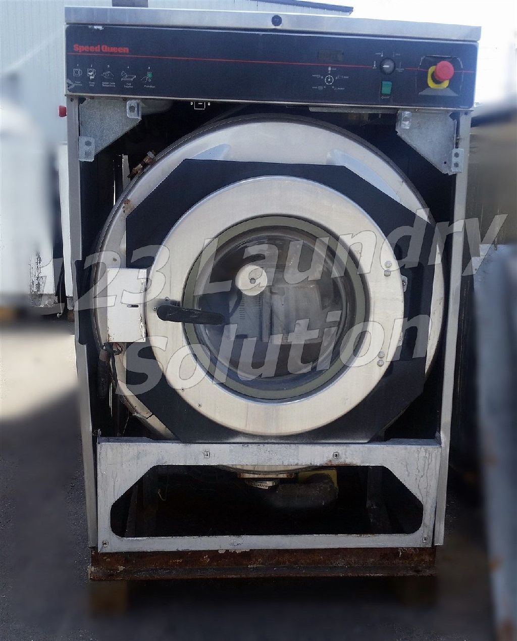Coin Laundry Speed Queen Front Load Washer OPL 60LB 3PH 220V SCN060GN2OU1001 AS-IS