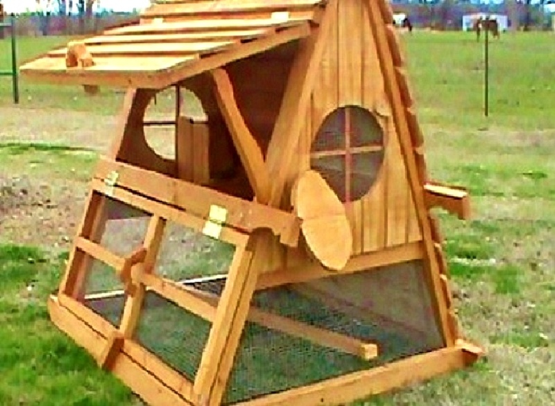 On sale 5 39 tall portable backyard chicken coop for 2 12 for How to build a movable chicken coop