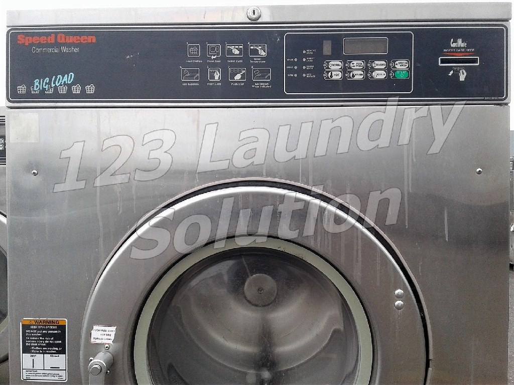 Coin Laundry Speed Queen Commercial Front Load Washer Card Reader 50LB 3PH SC50NR2ON4 0001
