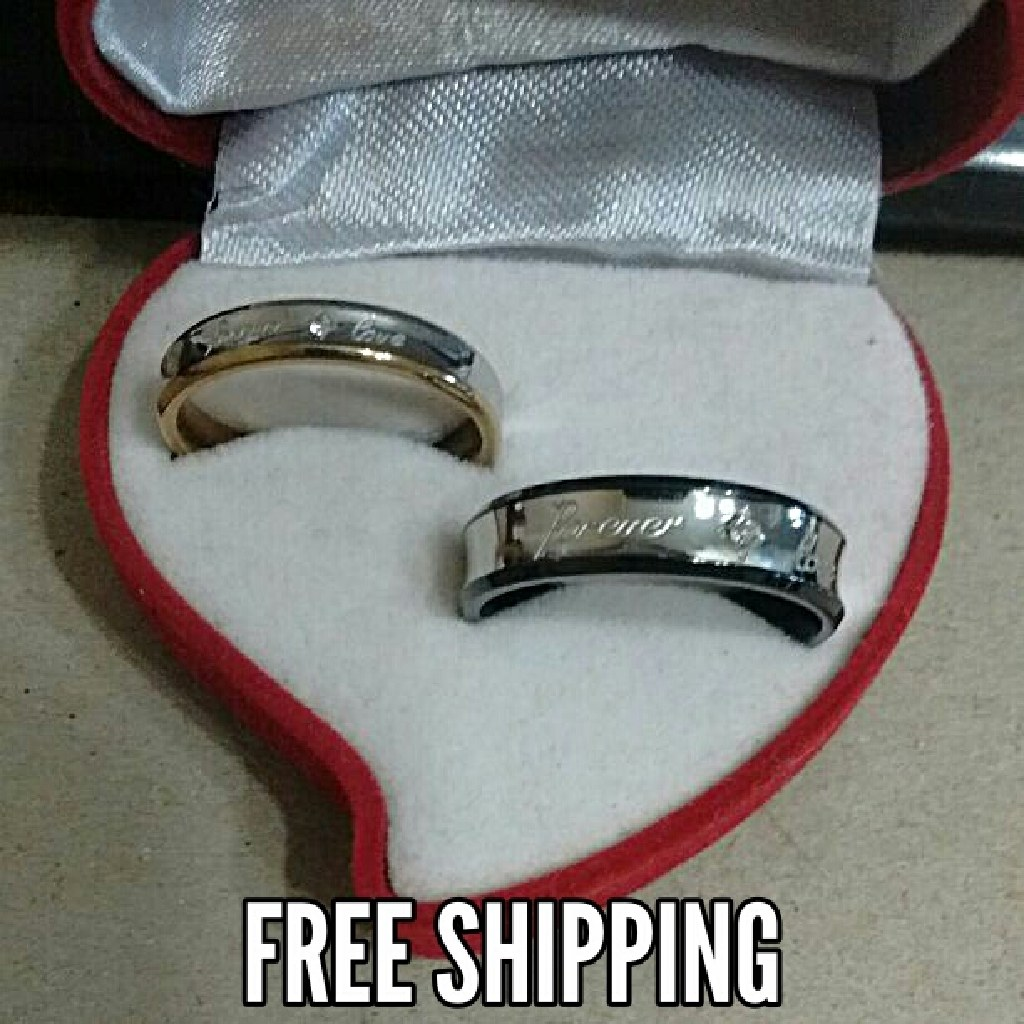 2pc Matching Forever Love Couples Ring Set Free Shipping