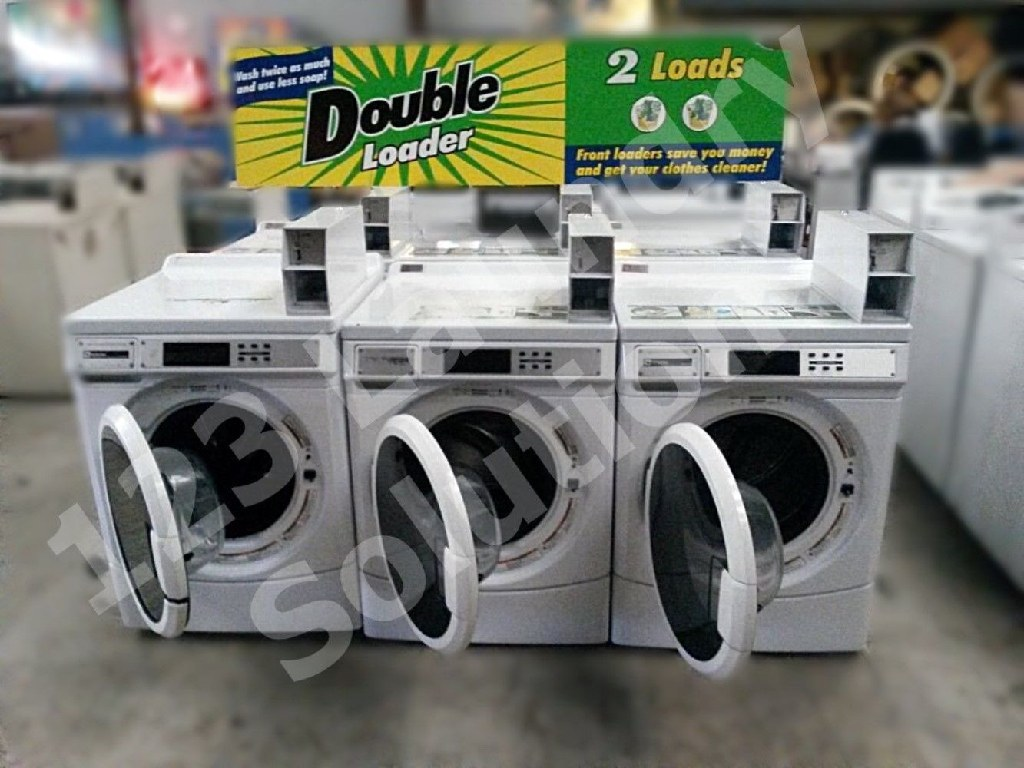 Coin Laundry Maytag Front Load Washer Coin Op Double Load 120V MHN30PDBWW​0 Used
