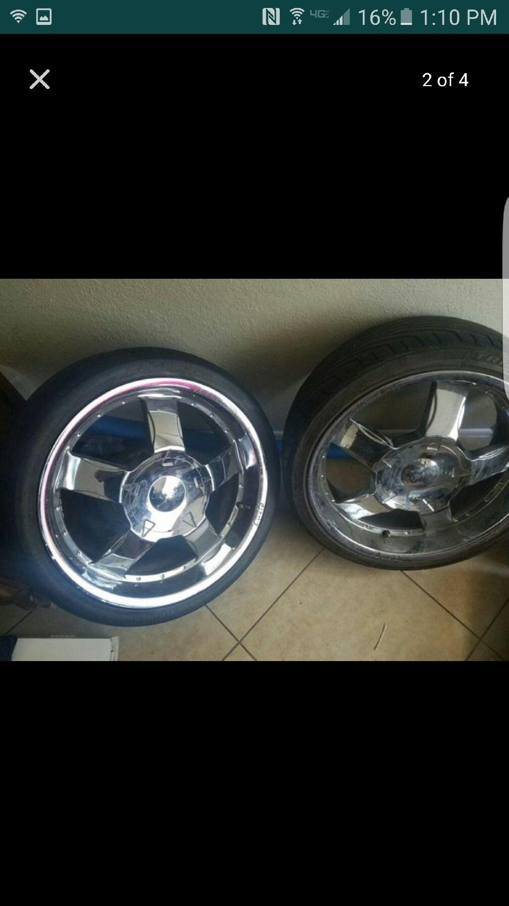 """20"""" 5 lug universal wheels"""
