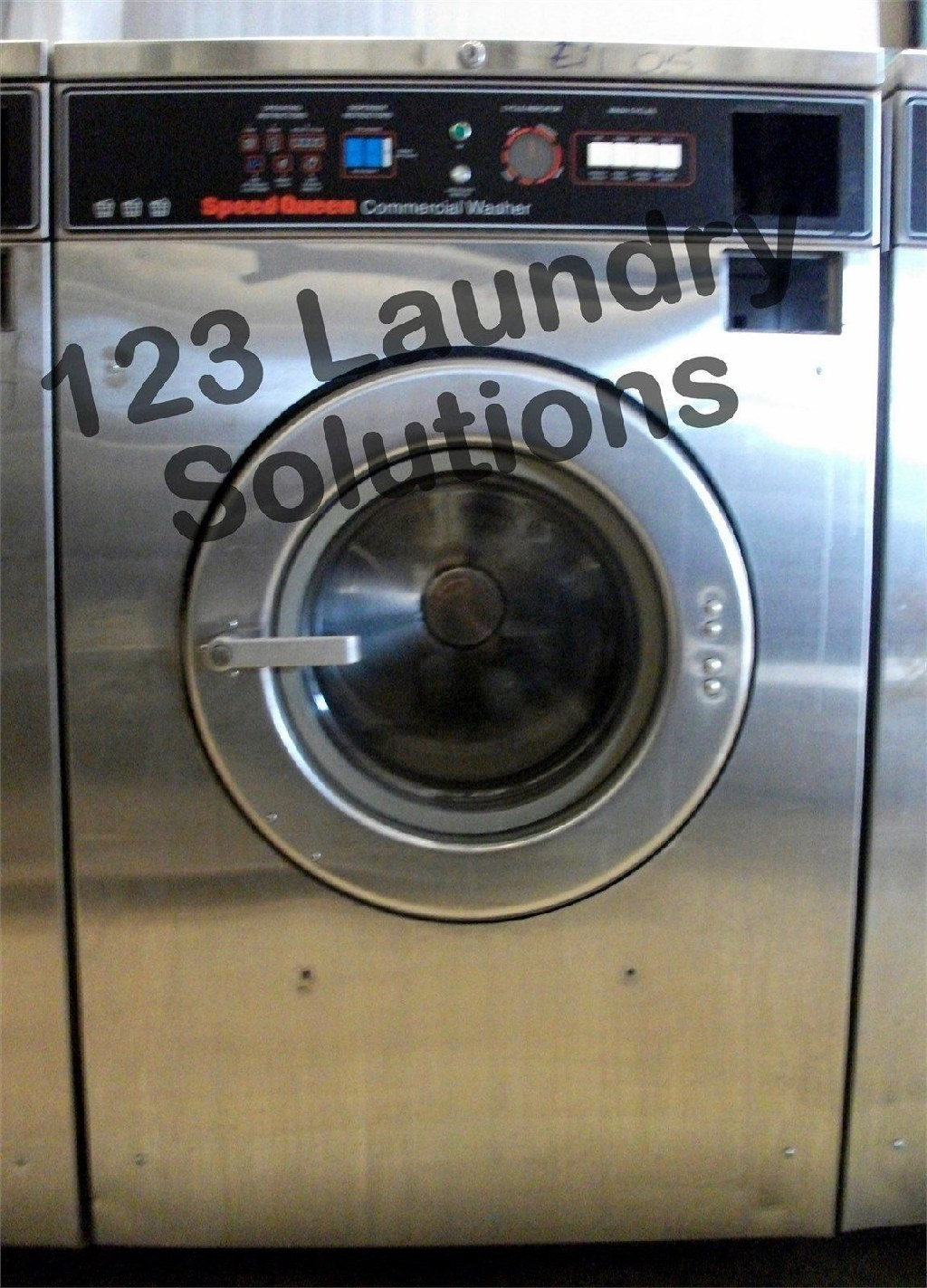 Coin Laundry Speed Queen Front Load Washer 208-240v Stainless Steel SC27MD2AU2 0001 Used