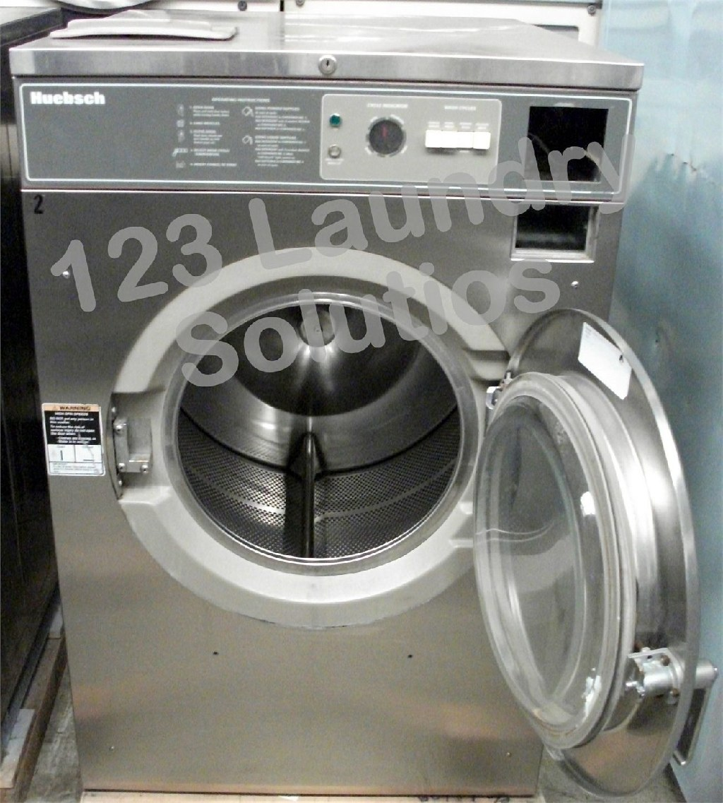 Coin Laundry Huebsch Front Load Washer 208-240v Stainless Steel HC40MY2OU6 0001 Used