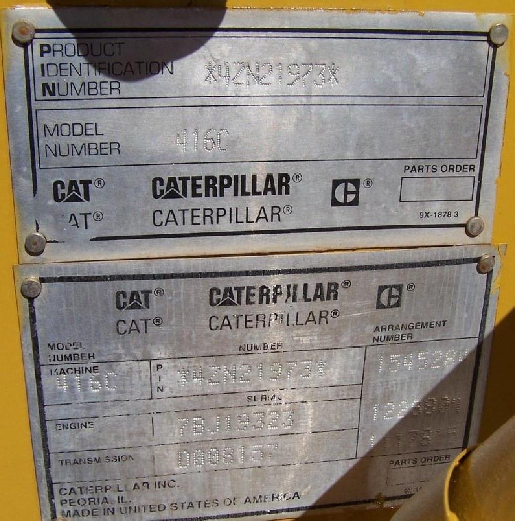 Caterpillar 416C Backhoe with Extendahoe