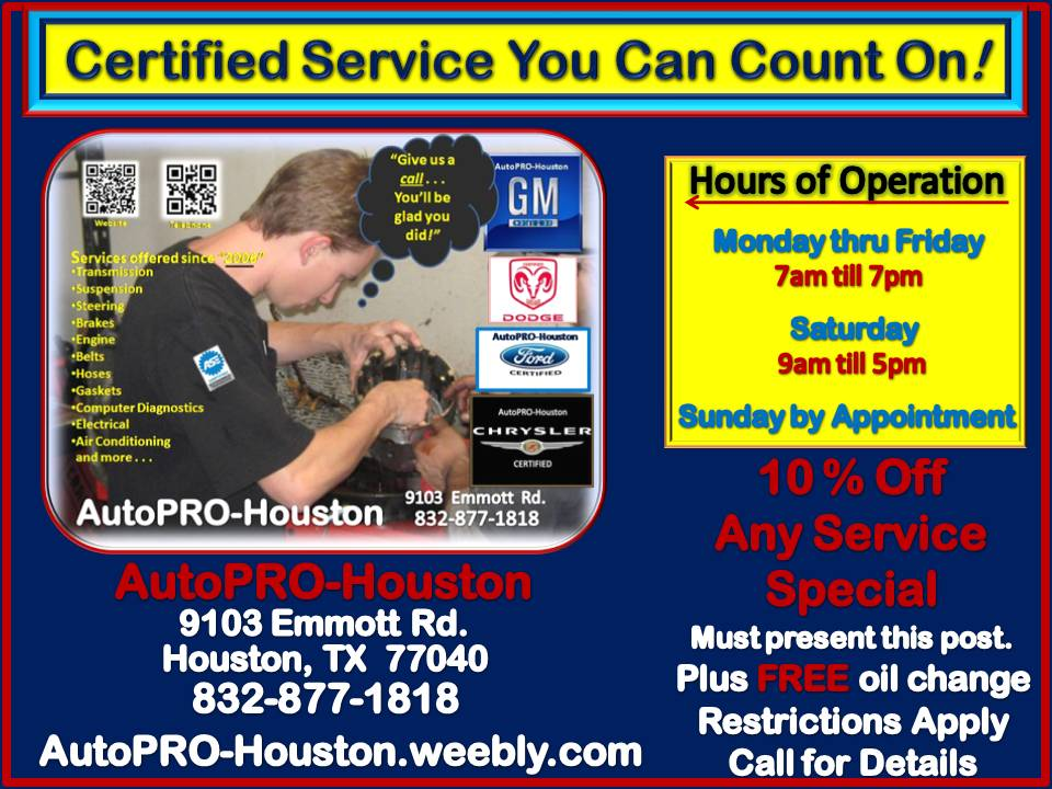 Air Conditioning Maintenance and Repair LESS @ - - AutoPRO-Houston