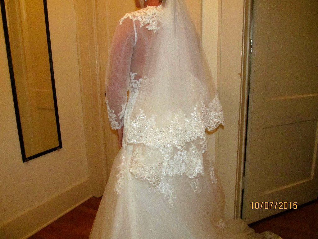 Cathedral Wedding Veil White/Ivory 1 Layer