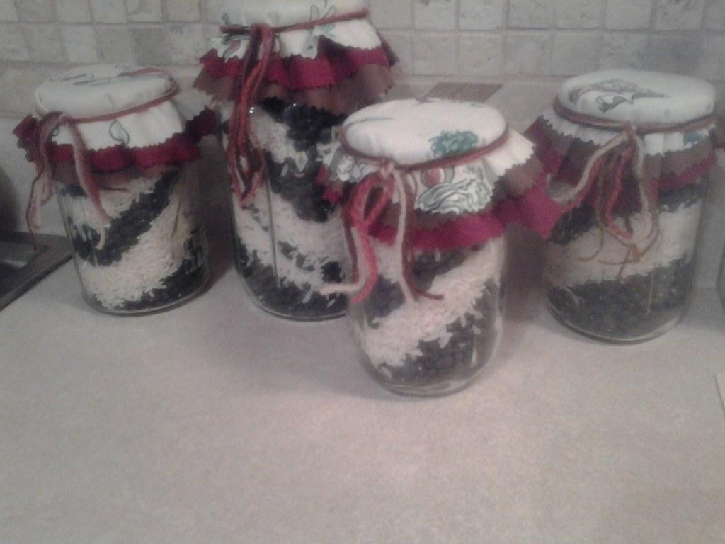 Vintage Mason Jars Kitchen Decor Set