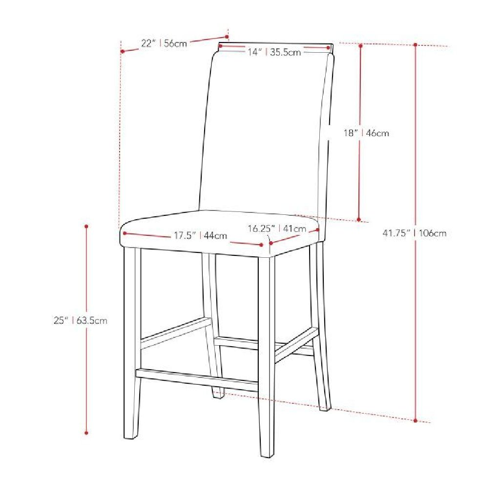 Grey Counter Height Dining Chair