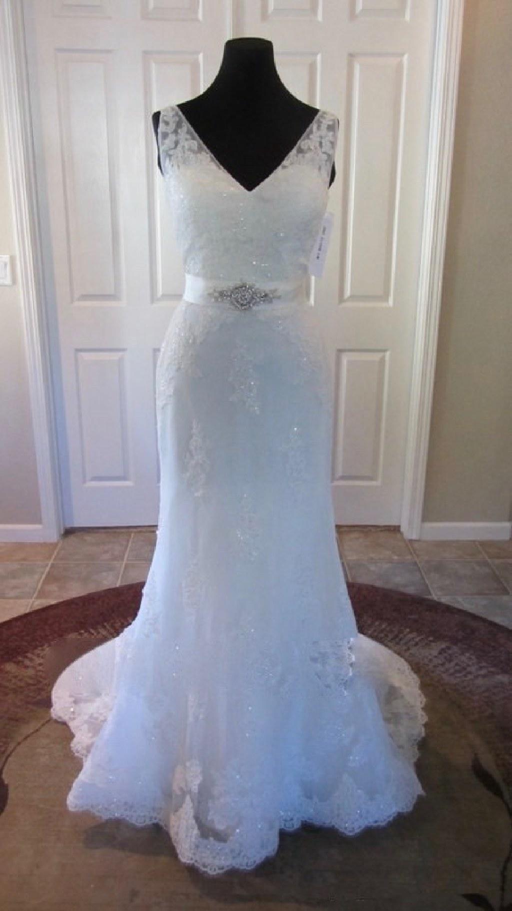 Stephanie's New Lace Sheath Wedding Dress