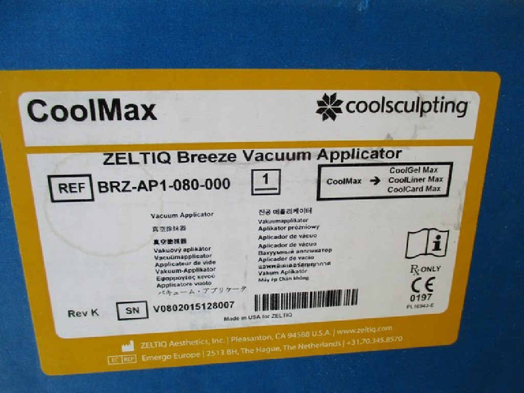2015 Zeltiq CoolSculpting Unit w/5 Applicators RTR#7031983-01