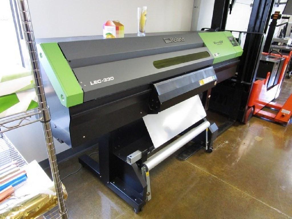 2012 Roland VersaUV LEC-330 UV Printer Cutter RTR#7073328-01