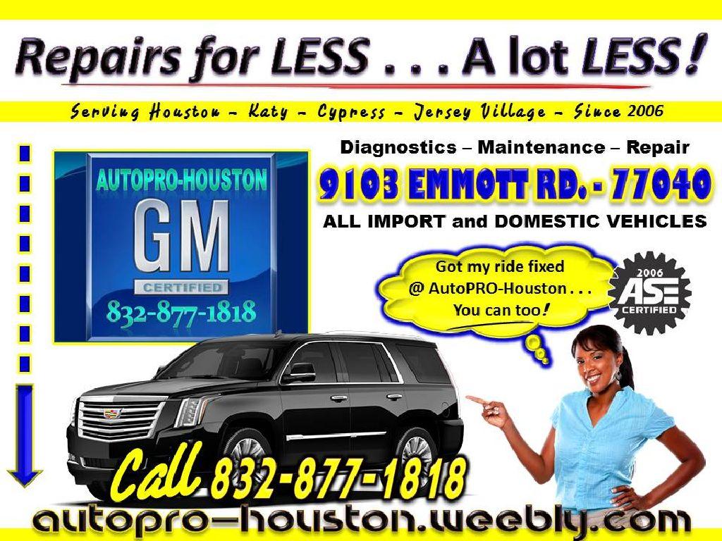Mobile Mechanics Serving Houston, Katy, Spring Branch, Jersey Village