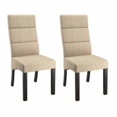 Cream Tall Back Dining Chairs