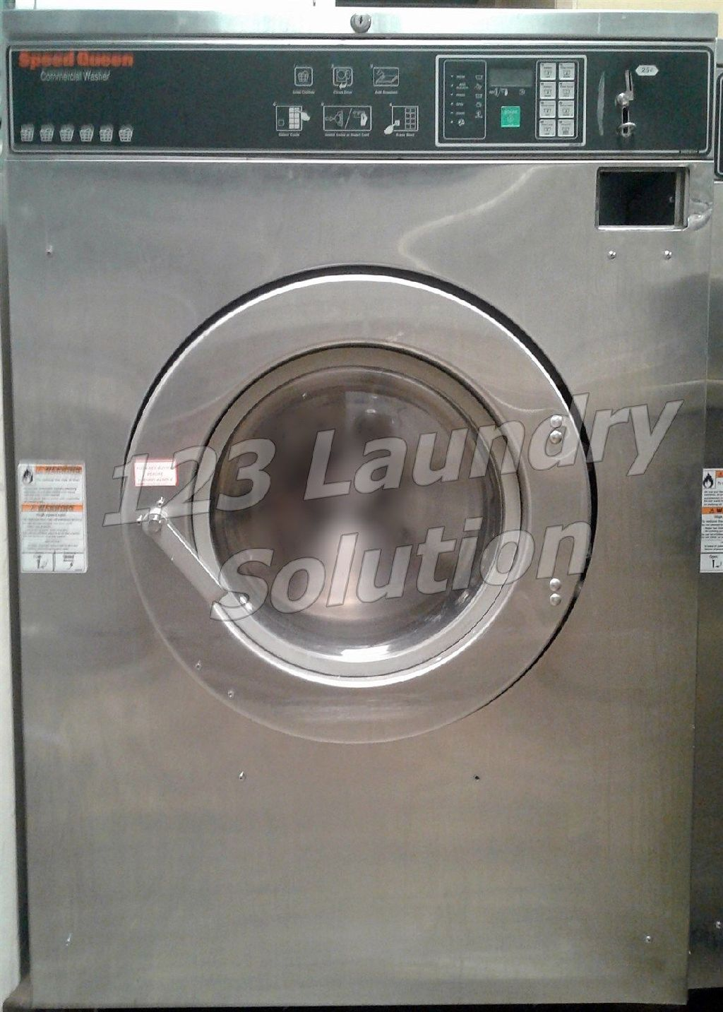 Coin Operated Speed Queen Commercial Front Load Washer 60LB 1/3PH SC60BCFXU6​0001 Used