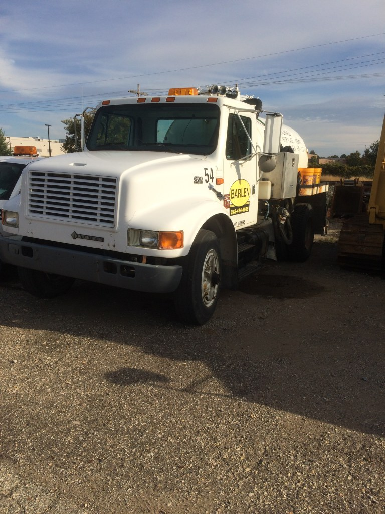 international septic truck