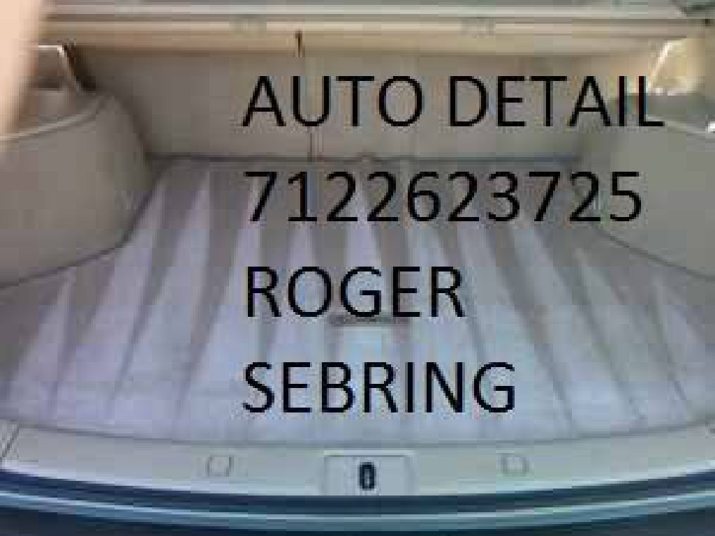 """NOTHING LIKE THAT CLEAN CAR SMILE CALL ROGER SEBRINGS AUTO DETAIL 712-262-3725 OR EMAIL rogers@smun"