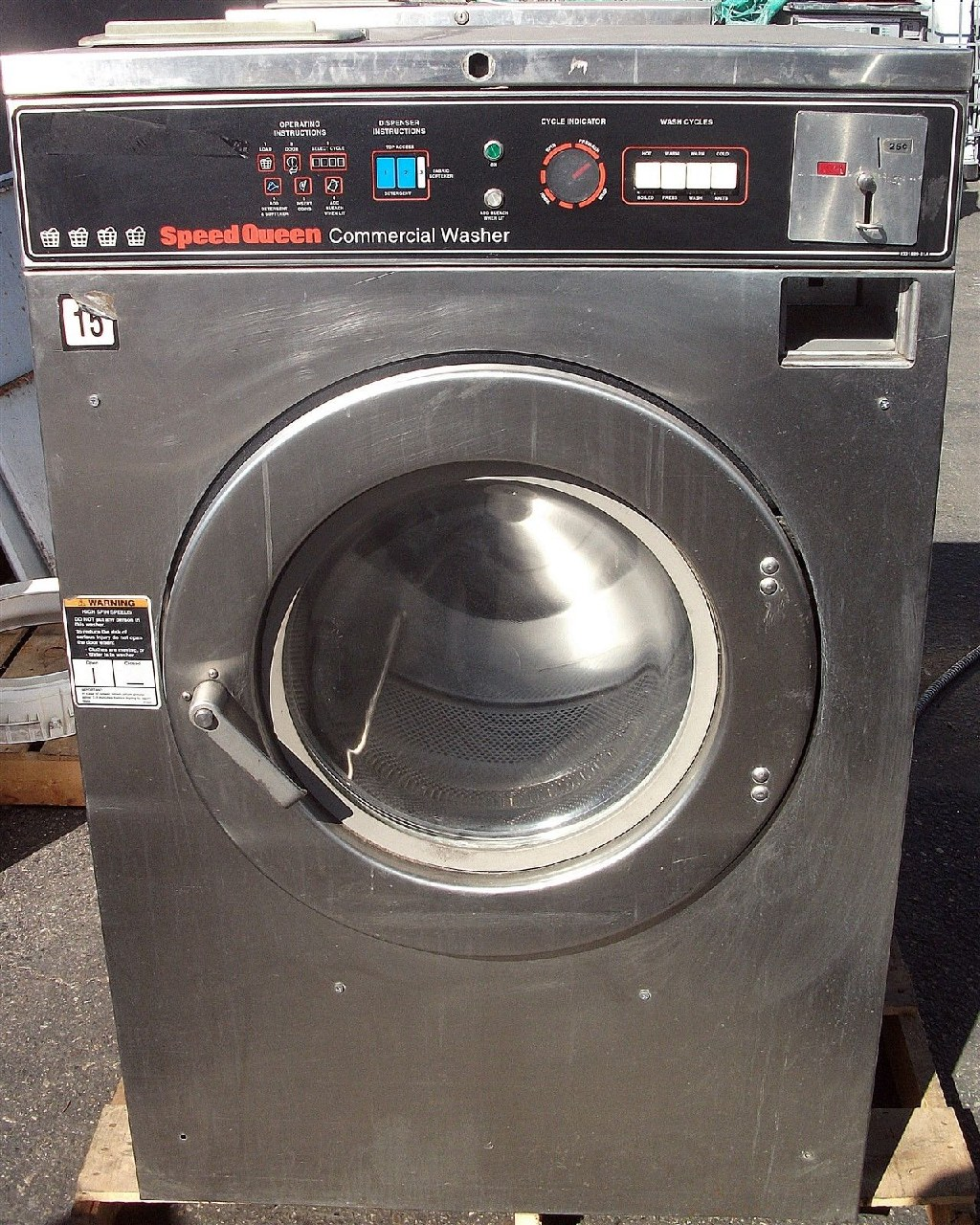 Fair Condition Speed Queen Front Load Washer 40LB SC40MD2 1PH Used