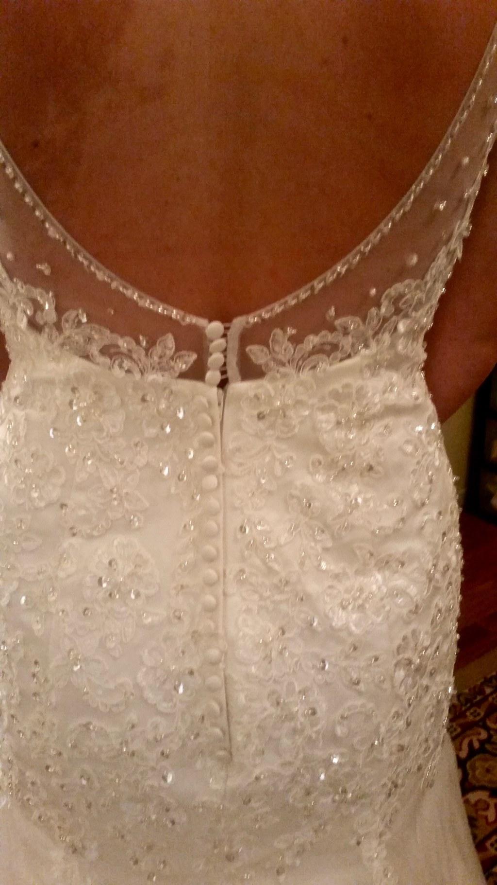 Caroline's Mermaid Lace Wedding Dress Size 16