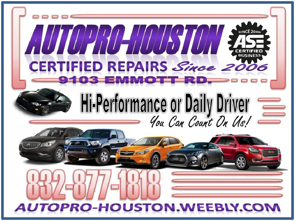 Use a Certified Mechanic for ALL your automotive Repairs and Maintenance