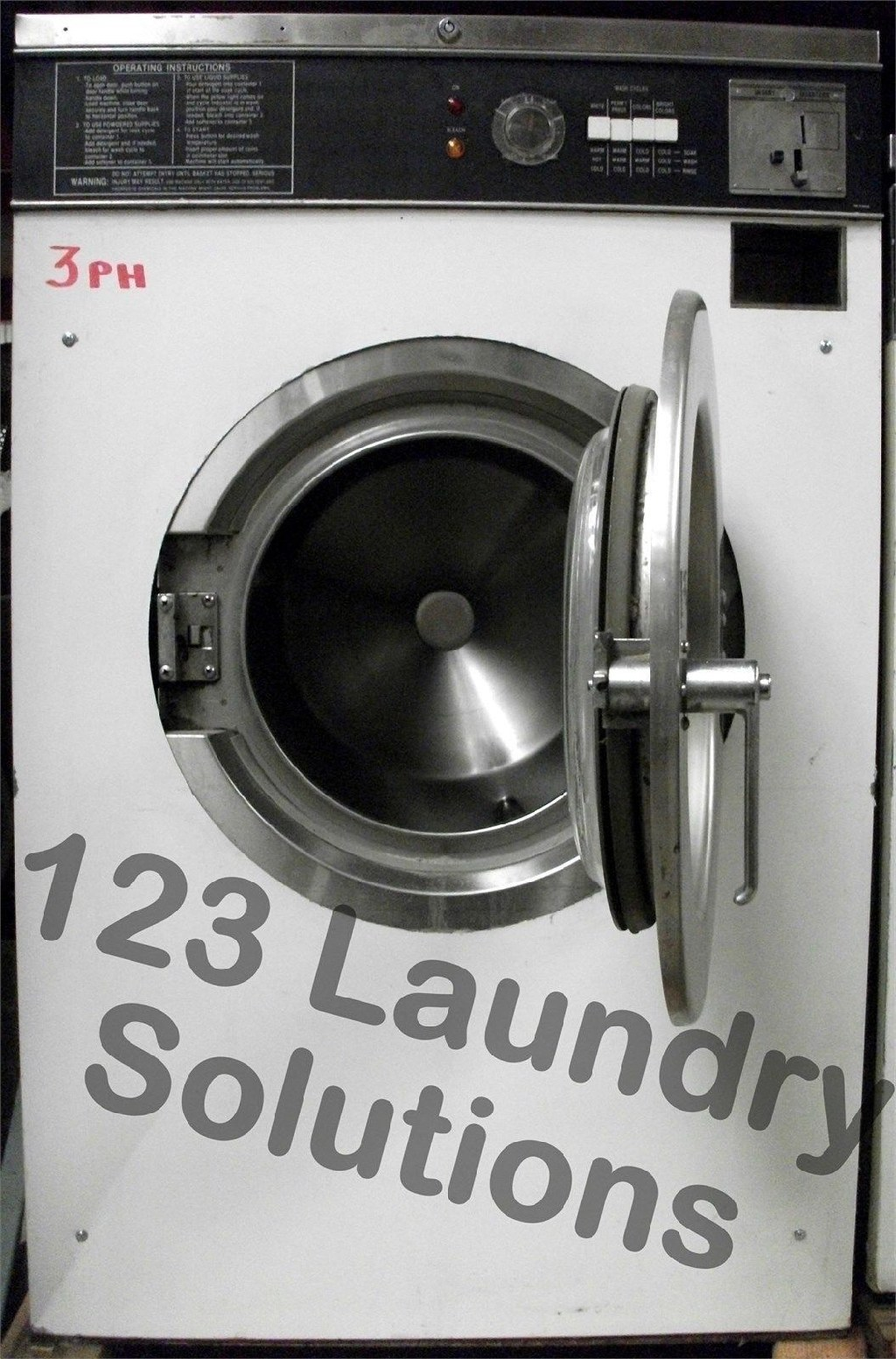 Coin Laundry Maytag Front Load Washer 18lbs 120v White AT18MC1 Used