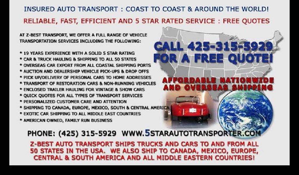 SAVE Call Mario NOW for cheap Budget Transport Auto car Boat Estimado gratis cotizacion Mudanza