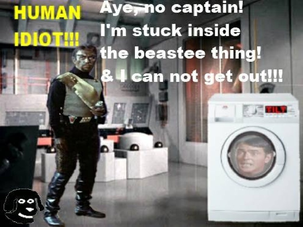 Laundry in space...