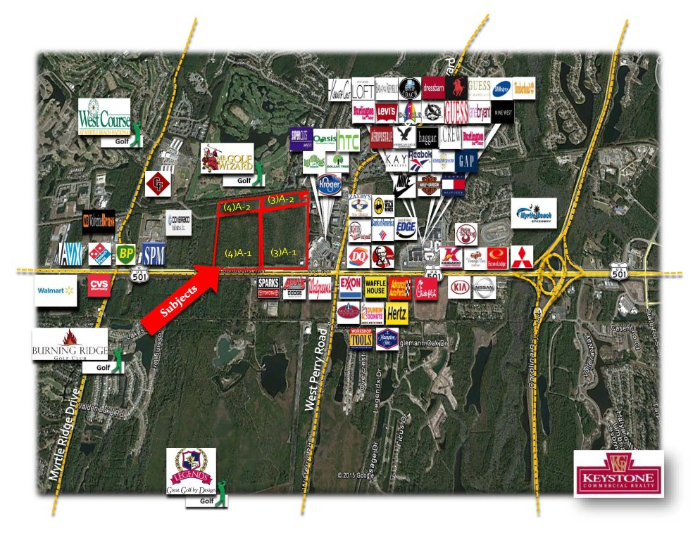 Waters Tract Hwy 501-126.61 Acres-Land for Sale-Myrtle Beach-Keystone Commercial Realty