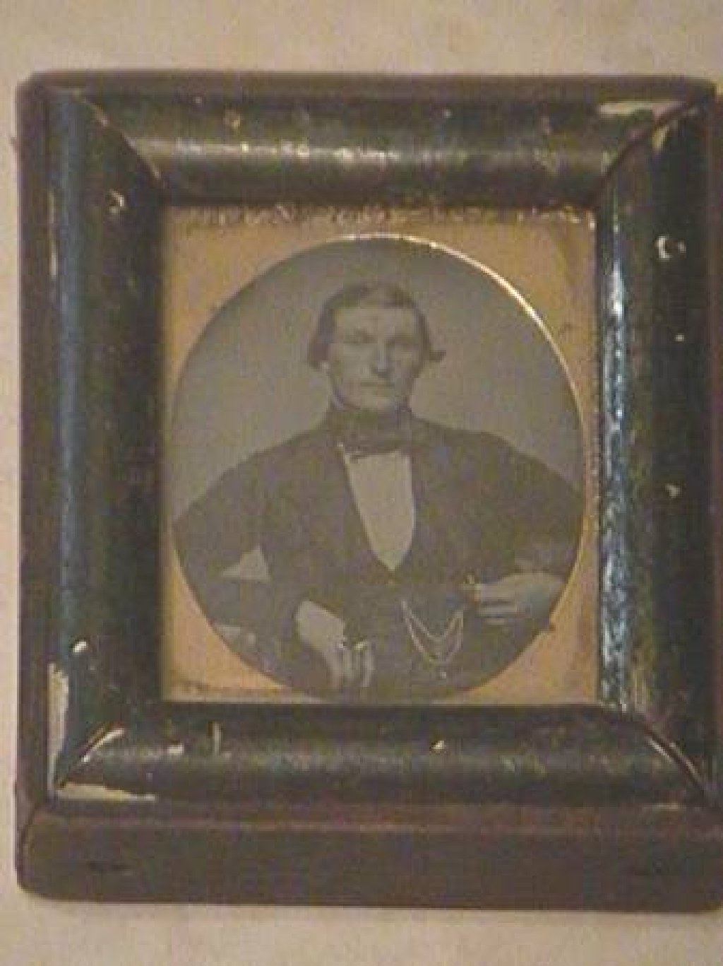 Antique Framed Tintype Photograph of man in a Suit