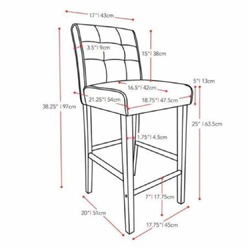 Bar Stool- Brown Leather