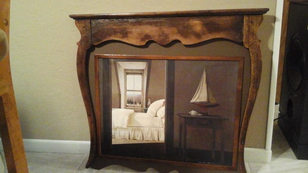 Antique Dresser Mirror Converted Into Vintage Picture