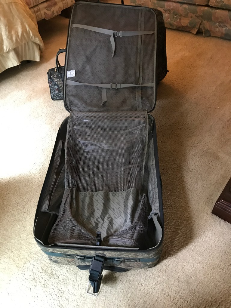 Luggage set of 3 - Floral dark green - Preowned