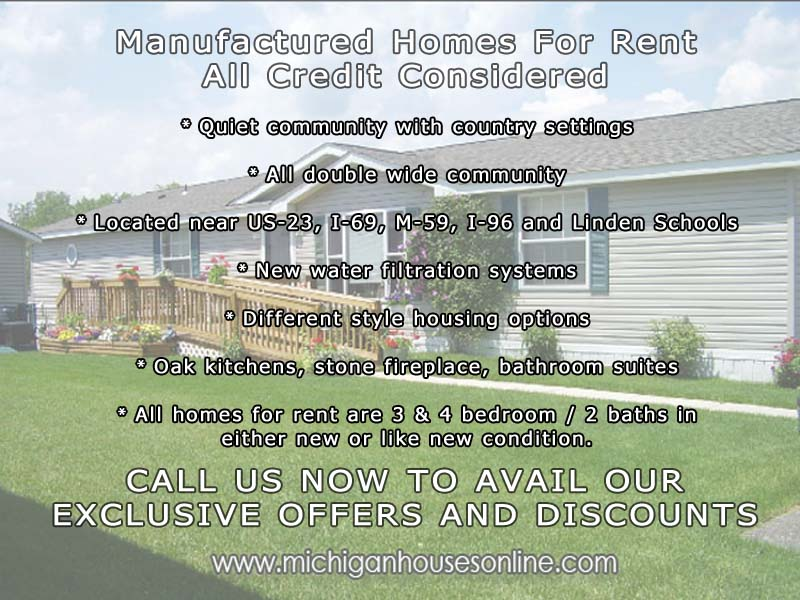 Manufactured Homes For Rent Near Downtown Fenton