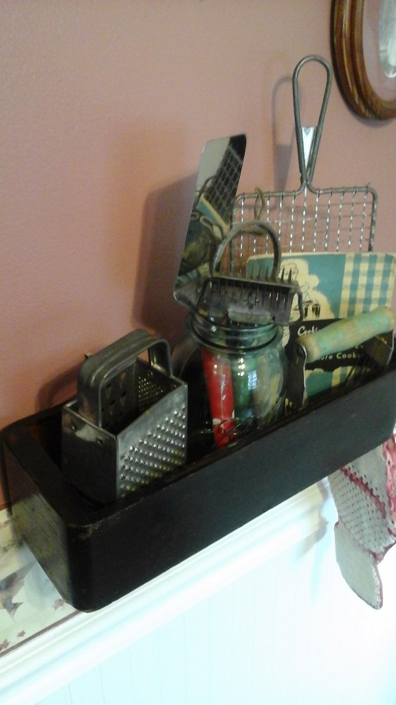 Vintage Kitchen Utensil Display