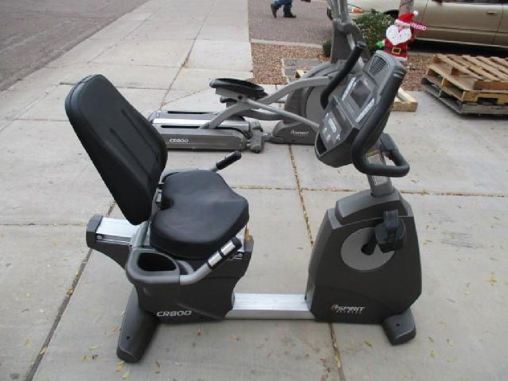 Spirit CR800 Commercial Recumbent Exercise Bike RTR#7011060-10